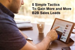 5 Simple Tactics to Gain More and More B2B Sales Leads